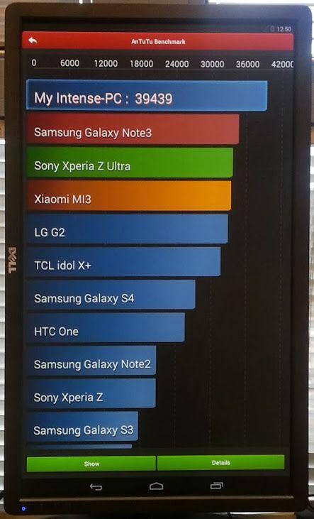 Тесты Android на Intense PC