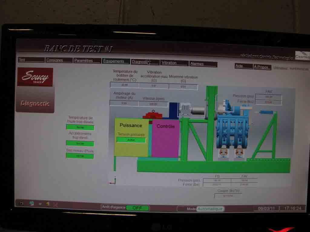 SCADA-пакет PcVue в системе автоматизации испытательного стенда гусениц транспортных средств